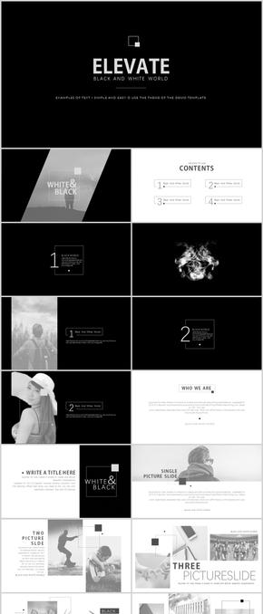 黑白世界 可更换主题色