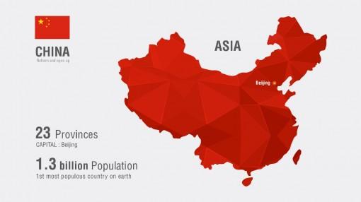 扁平化商务矢量素材之中国地图