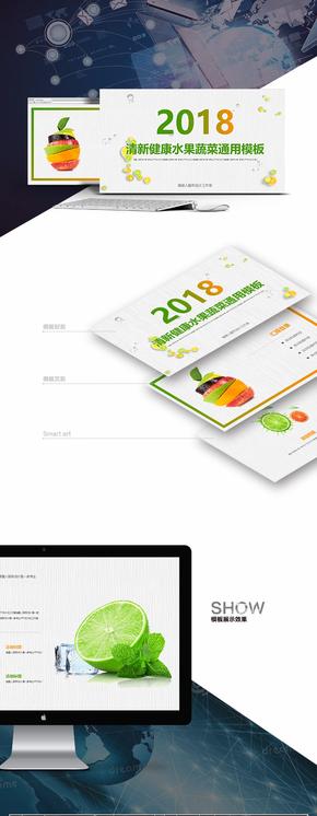 【蔬菜水果】清新健康绿色生态工作总结项目计划书精美模板