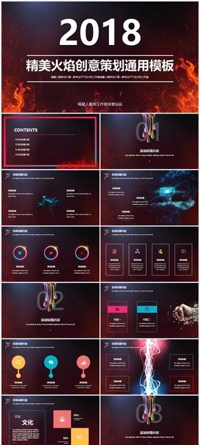 【激情火焰】创意酷炫精美策划展览工作总结业务汇报创业计划书模板