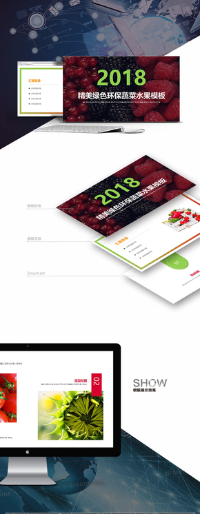 【瓜果蔬菜】项目推广环保蔬菜路演公司简介上市融资模板