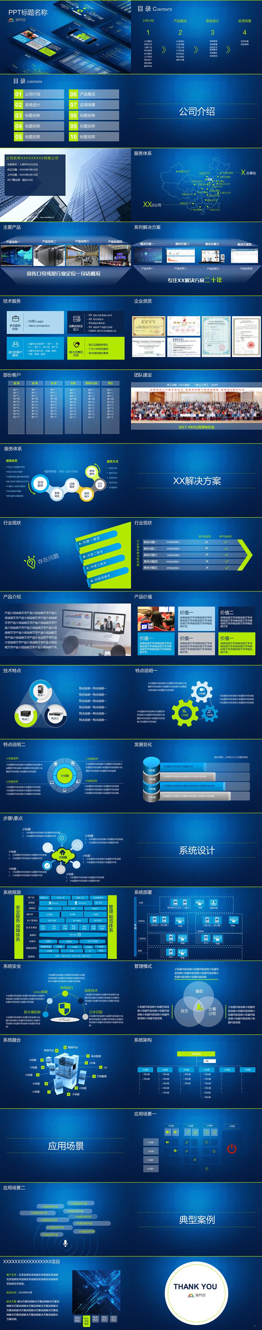 IT企业产品汇报模板