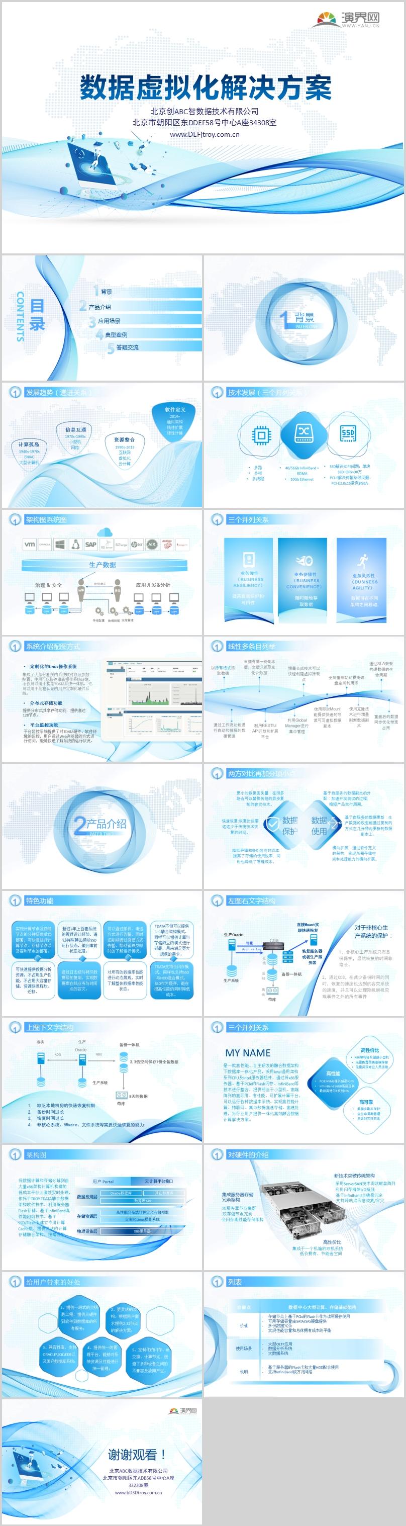 数据虚拟化解决方案模板