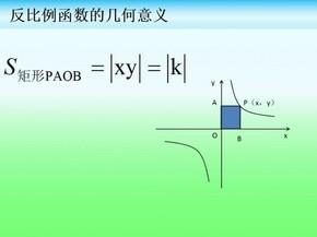 初中反比例函数的面积问题
