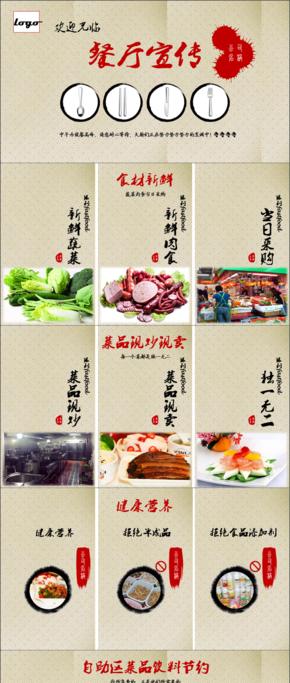 餐饮美食餐馆餐厅宣传介绍PPT模板