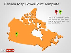 5P 立体加拿大地图