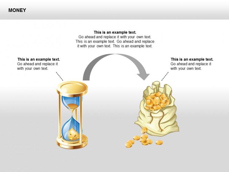 金币矢量ppt图表