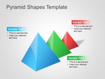 金字塔形状图表模板