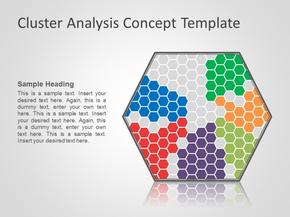 凝聚与分解概念图表模板