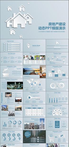 房地产行业营销策划方案工作总结商业创业计划书动态PPT模版