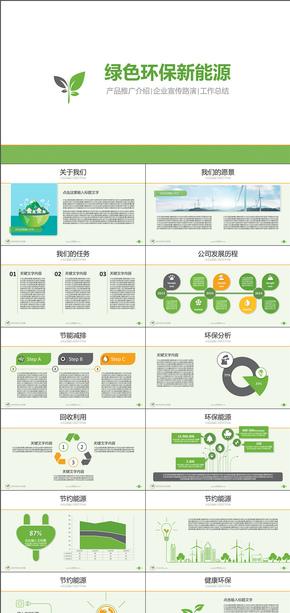 綠色環保新能源高科技公司介紹產品推廣動態PPT模版