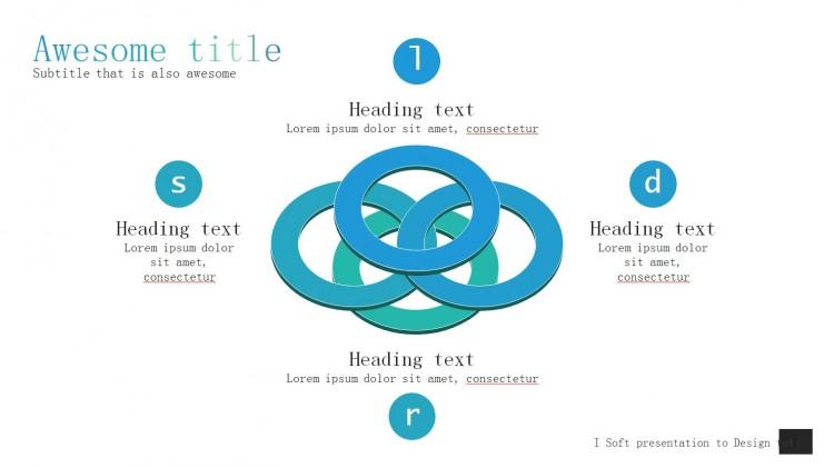 苹果ios简洁风格图表图标关系动态ppt素材