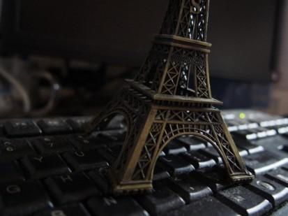 埃菲尔铁塔巴黎键盘黑 模板类型: 静态模板 商品色调: 黑,灰 商品