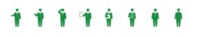 扁平 綠色小人 作報告