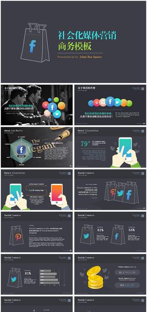 社会化网络新媒体营销策划动态ppt模板