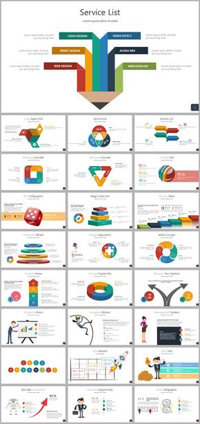 动态图表商务数据统计分析ppt图表大全