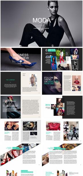 时尚品牌宣传推广策划营销介绍动态PPT模版