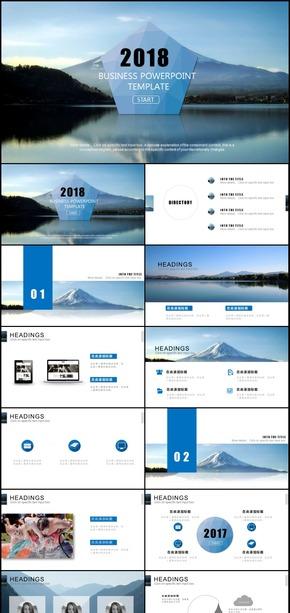 欧美风格商务商业通用动态PPT通用模板