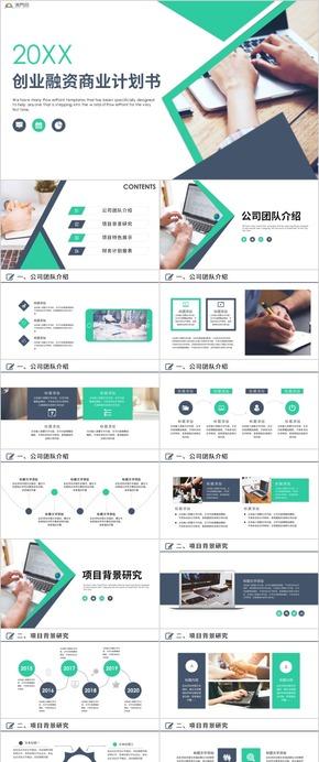 商业计划书商业创业融资商业计划书PPT模板商业计划书互联网商业ppt