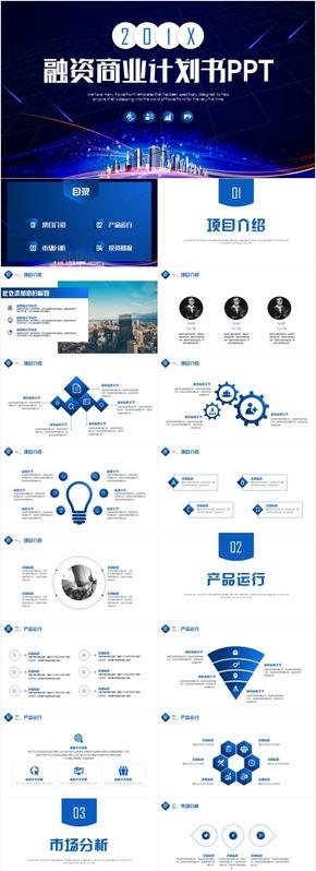 创业融资商业计划书公司简介推介会发布会路演PPT模板