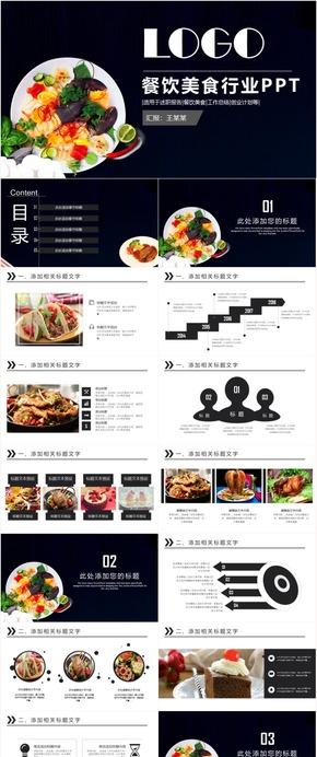 高端時尚餐飲美食飲食介紹招商美食文化餐飲連鎖餐飲公司PPT