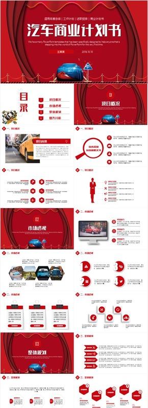 简约4S汽车店汽车营销售后服务工作总结汇报PPT