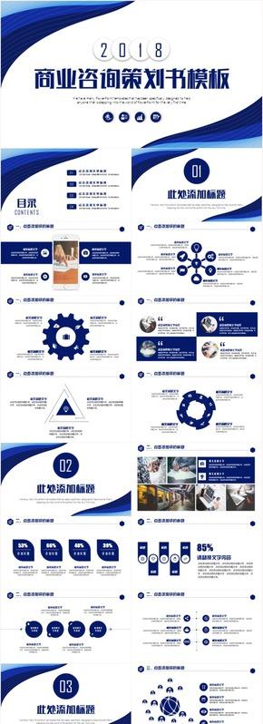 商业咨询策划创业融资商业计划书PPT模板