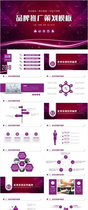 高端大气企业品牌推广策划方案商业策划书融资投资商务计划书