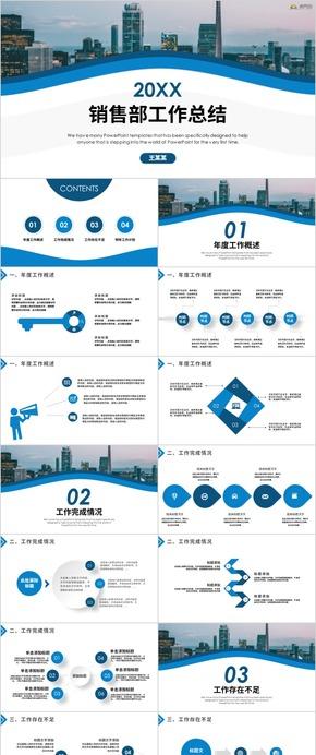 市場銷售部營銷工作總結 工作匯報 年終工作 工作計劃 年中總結 述職報告PPT模板