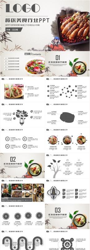 创意大气美食餐饮酒店策划工作计划总结汇报创业招商PPT模板