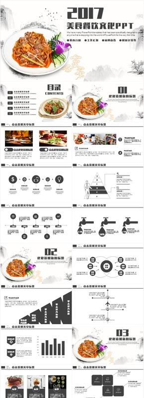 美食餐饮酒店餐厅策划工作汇报工作计划总结PPT动态模板