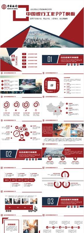 创意大气中国银行工作汇报总结计划柜员岗位竞聘演讲竞聘ppt