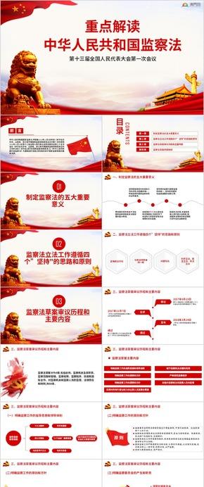 簡約中華人民共和國監察法黨建ppt