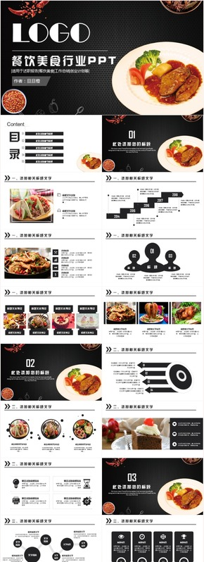 最新创意美食餐饮酒店策划营销方案工作汇报通用PPT模板