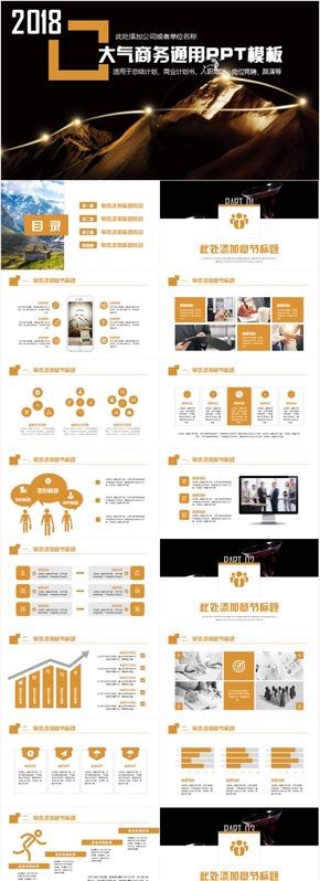 创意大气商务策划商业计划书品牌宣传路演计划书PPT模板