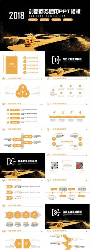创意时尚商务策划汇报商业计划书创业融资路演PPT模板