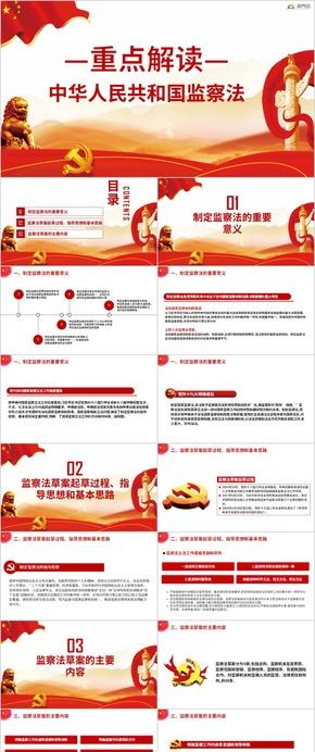 深入學習解讀中華人民共和國監察法兩會PPT
