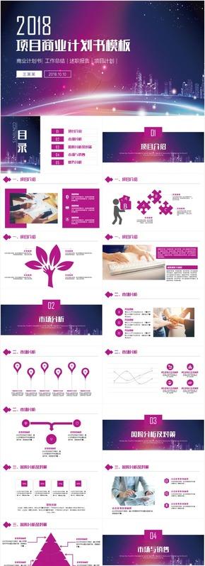 项目计划书商业策划路演发布会公司简介PPT模板
