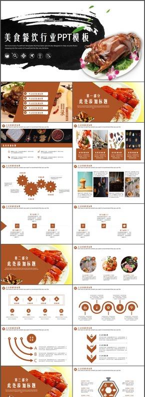 经典黄色炫酷简约食品美食摄影西餐餐饮文化品牌宣传
