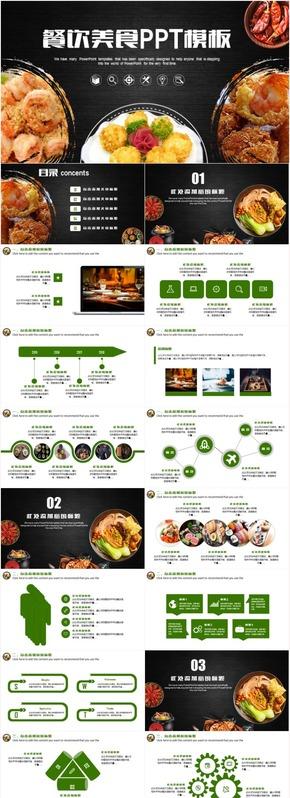 美食餐饮文化酒店策划餐厅推广工作汇报总结计划PPT模板