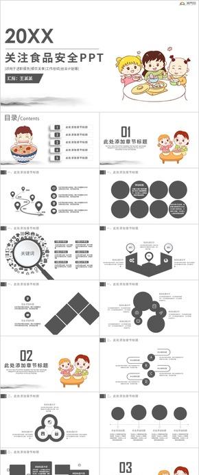 食品安全調查匯報安全教育培訓簡約ppt模板