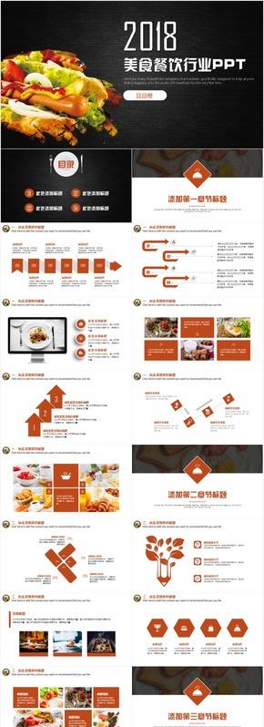 餐饮美食酒店策划餐厅营销方案计划书品牌宣传PPT模板