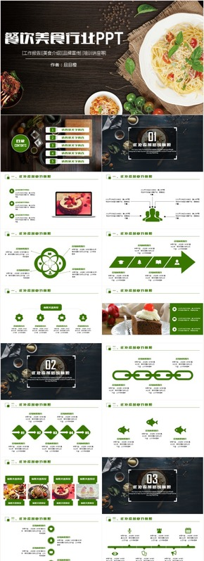 创意大气美食餐饮营销策划酒店方案策划计划书PPT模板