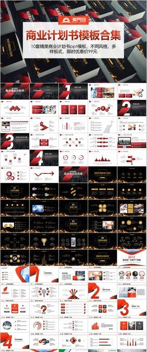 【合輯】10套商業計劃書商業創業融資PPT模板