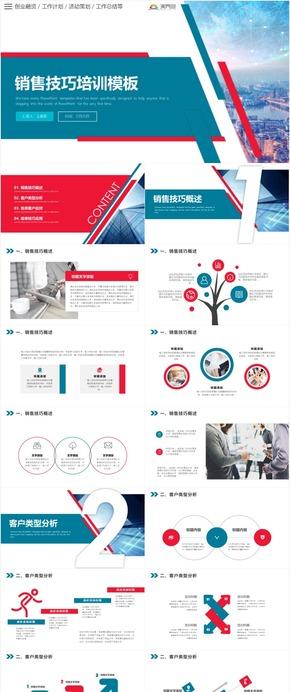 创意大气商务销售人员销售技巧培训PPT模版
