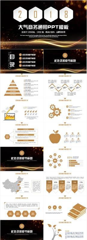 商业计划书创业融资品牌宣传商务汇报PPT模板