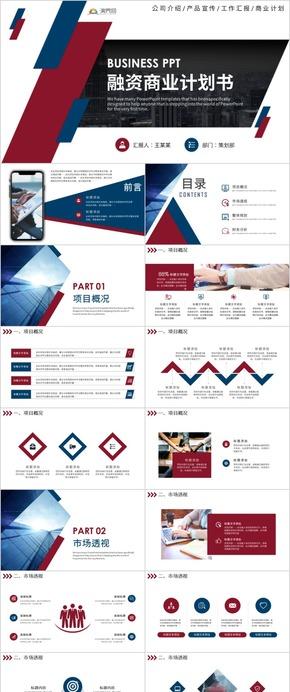 商务风商业活动策划商业项目策划书融资项目策划方案ppt模版
