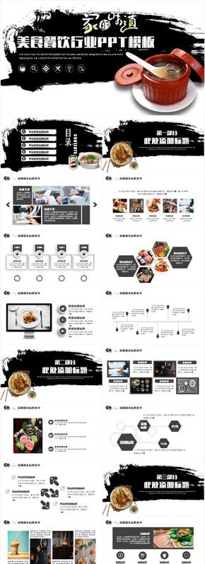 【家的味道】餐饮美食酒店餐厅工作汇报创业计划书PPT动态模板