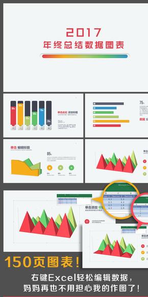 【柚子】2017年终总结计划数据图表150页(缤纷多彩)