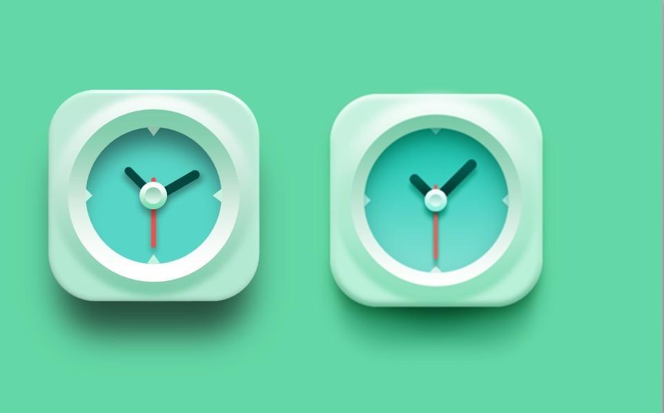 纯ppt绘制-绿色钟表图标 - 演界网,中国首家演示设计
